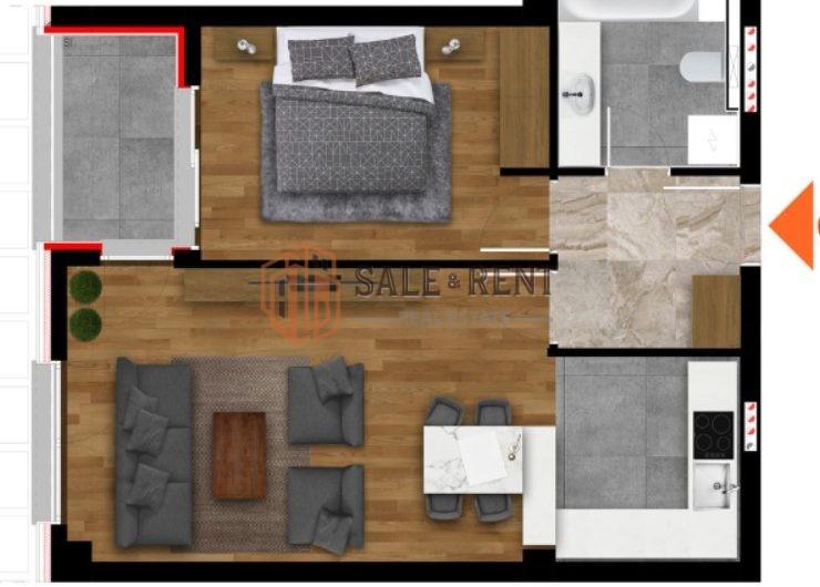 One bedroom apartment 51.47m2 Near Capital Plaza, Podgorica